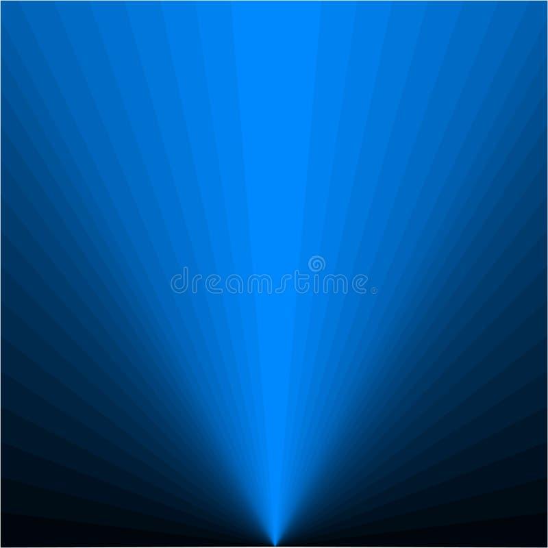 Hintergrund von blauen Strahlen vektor abbildung