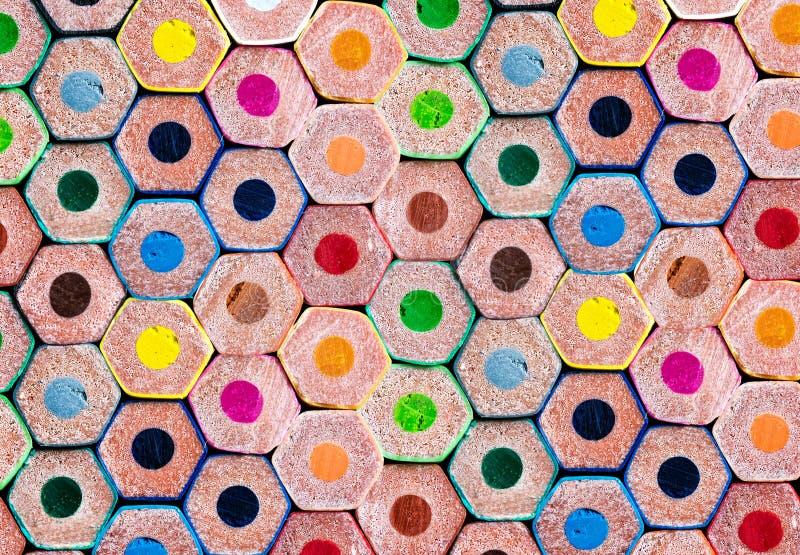 Hintergrund von bunten Bleistiften stockbild