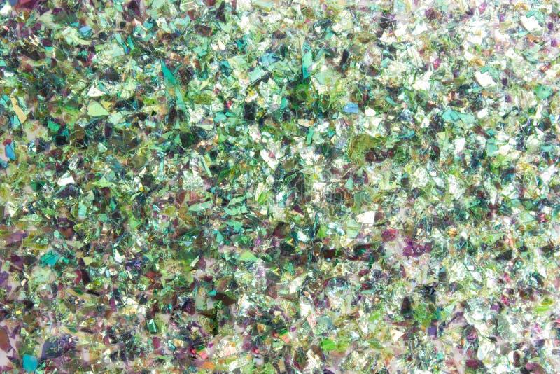 Hintergrund von defekten Stückchen des weißen Glases lizenzfreie stockfotografie