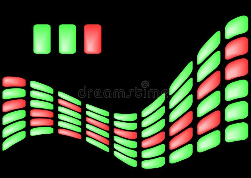 Hintergrund von den hellgrünen und roten Elementen lizenzfreie abbildung