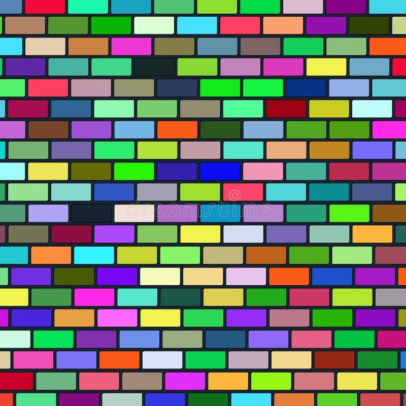 Hintergrund von der mehrfarbigen Backsteinmauer lizenzfreie abbildung