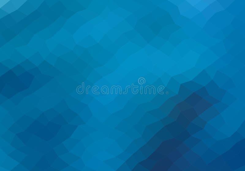 Hintergrund von dunklen und hellblauen Quadraten Mosaikhintergrundzusammensetzung von geometrischen Elementen Abstraktes Pixelmeh stock abbildung