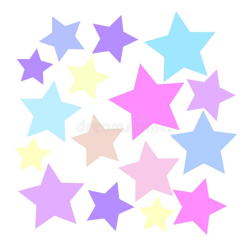 Hintergrund von farbigen Sternen vektor abbildung