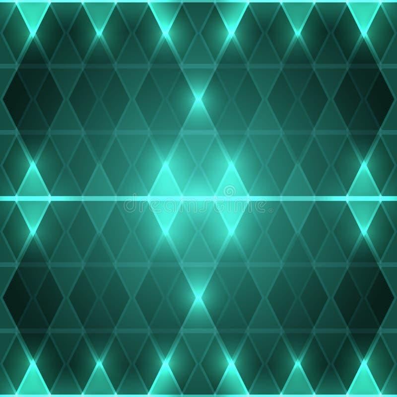 Hintergrund von grünen Rauten lizenzfreies stockbild