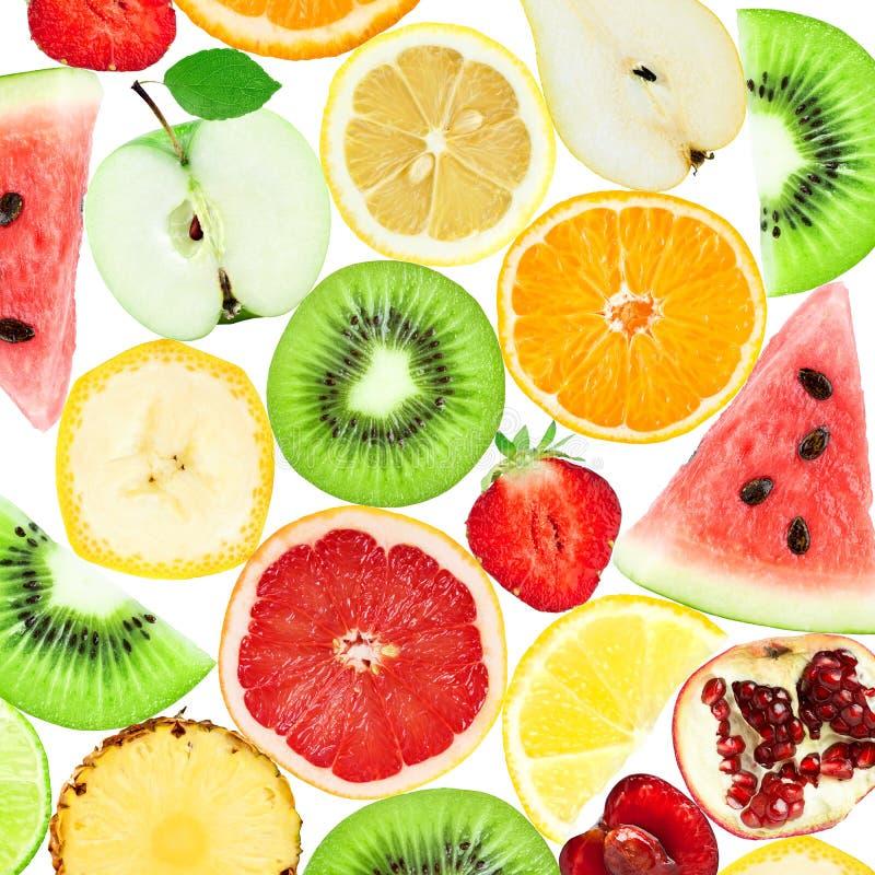 Hintergrund von neuen Mischfruchtscheiben stockfotografie