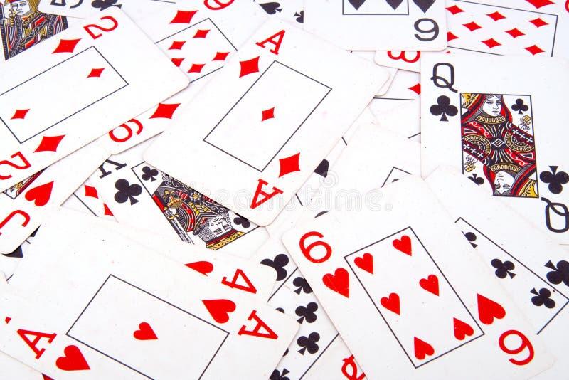 Hintergrund von Spielkarten lizenzfreie stockfotos