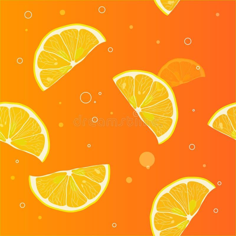 Hintergrund von Zitronenscheiben lizenzfreie abbildung