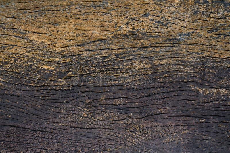 Hintergrund-Wandbeschaffenheit der alten schwarzen Goldbarke hölzerne stockbild