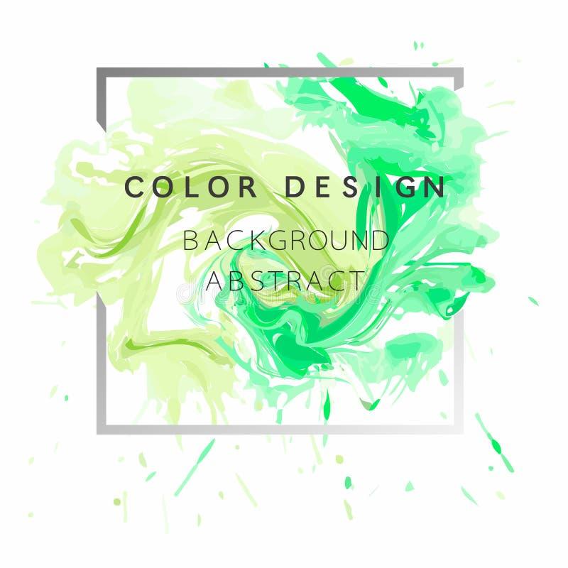 Hintergrundaquarellfarbenbeschaffenheitsdesignplakat-Illustrationsvektor der Kunst abstrakter über quadratischem Rahmen stock abbildung