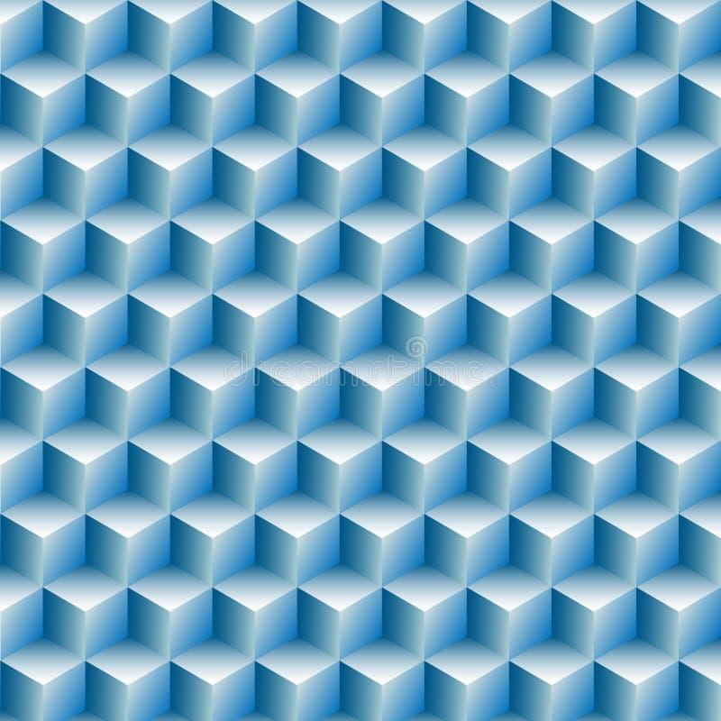 Hintergrundauszug der optischen Illusion der Würfelreihen stock abbildung
