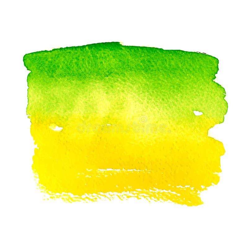 Hintergrundbürstenfarben-Aquarellgrün des Schmutzes abstraktes lizenzfreie abbildung