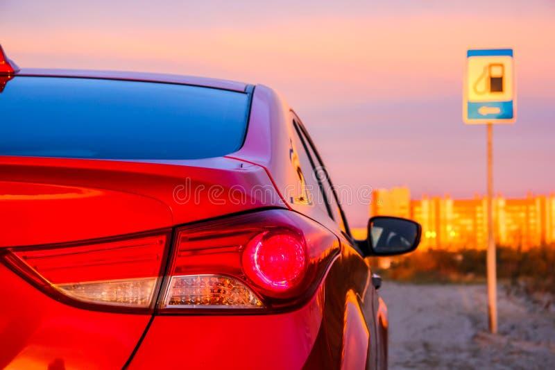 Hintergrundbeleuchtung des Automobils stockfotografie