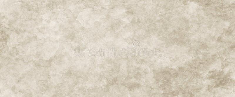Hintergrundbeschaffenheit, braunes Papier mit weißem strukturiertem Weinleseschmutz und verblaßtes beunruhigtes altes Pergament lizenzfreie stockfotografie