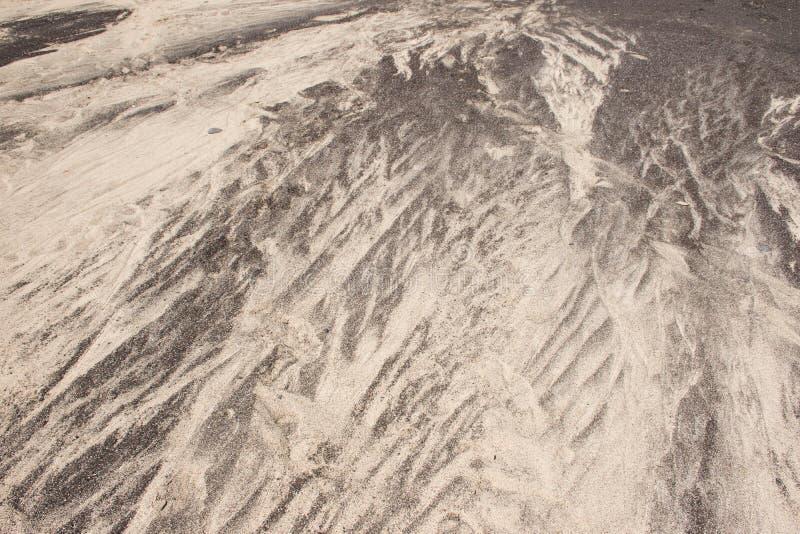 Hintergrundbeschaffenheits-Schwarzweiss-Sand Musternatur Lanzarote lizenzfreie stockbilder