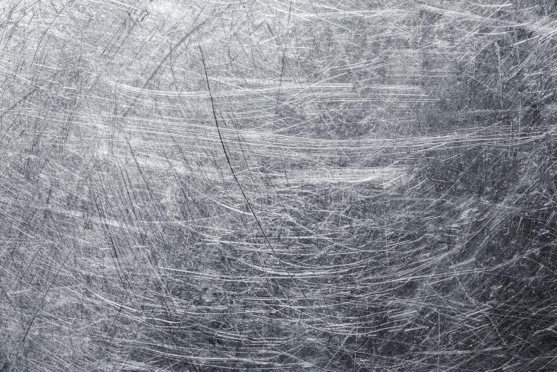 Hintergrundblechtafel mit Kratzern auf der Oberfläche, Stahltext lizenzfreie stockbilder