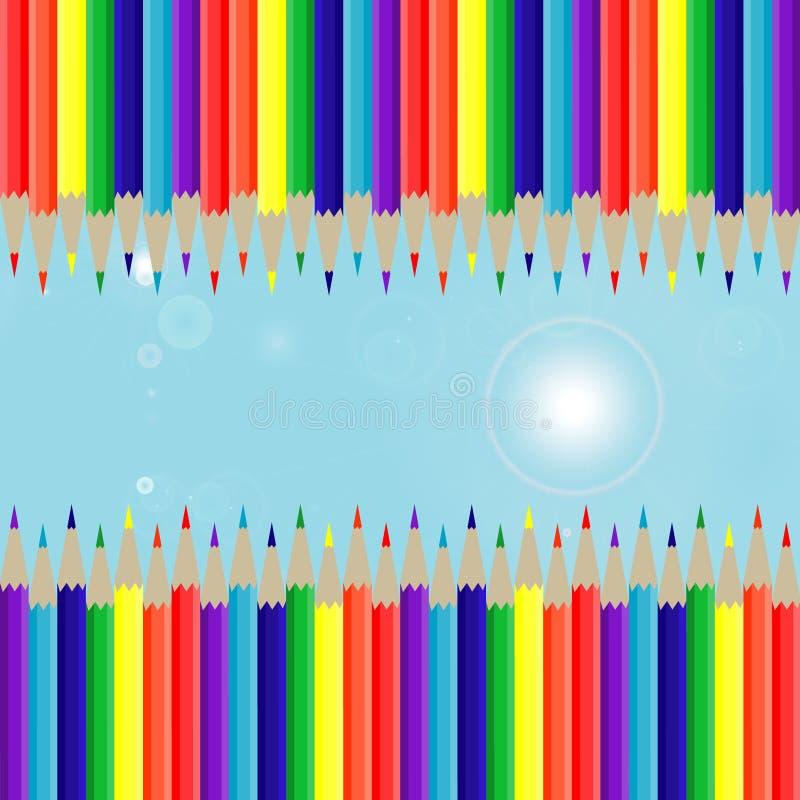 Hintergrundbleistifte stockfoto