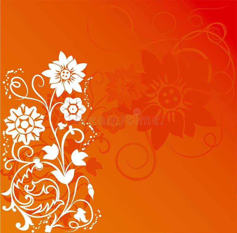Hintergrundblume, Elemente für Auslegung, Vektor lizenzfreie abbildung