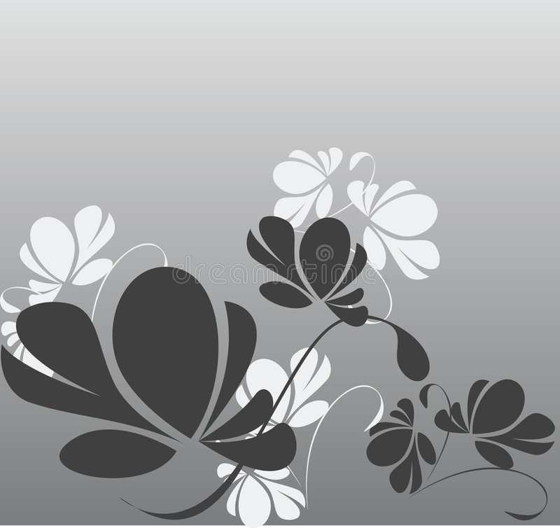Hintergrundblumen stock abbildung