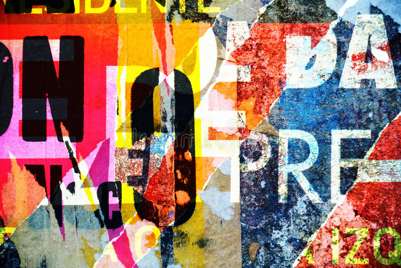 Hintergrundcollagen- oder Typografiedesigntapetenbeschaffenheit stockbilder