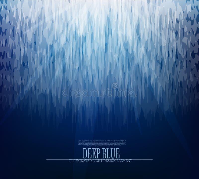 HINTERGRUNDdesign des abstrakten Gletschers des Vektors Unterwasser vektor abbildung