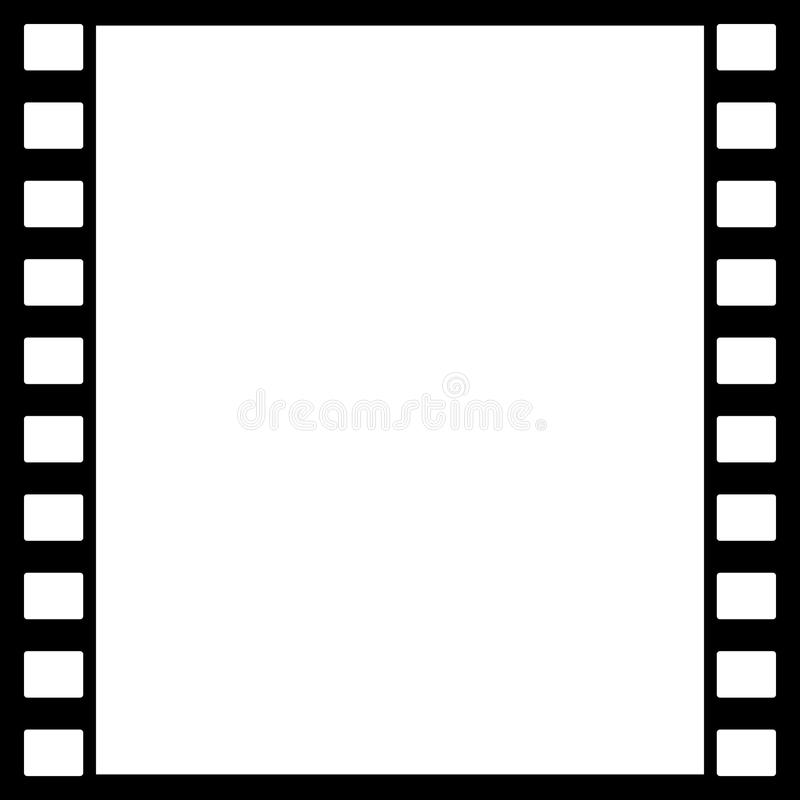 Hintergrunddesign mit Elementen des fotografischen Films vektor abbildung