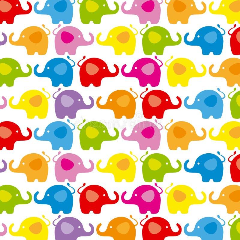 Hintergrundelefanten lizenzfreie abbildung