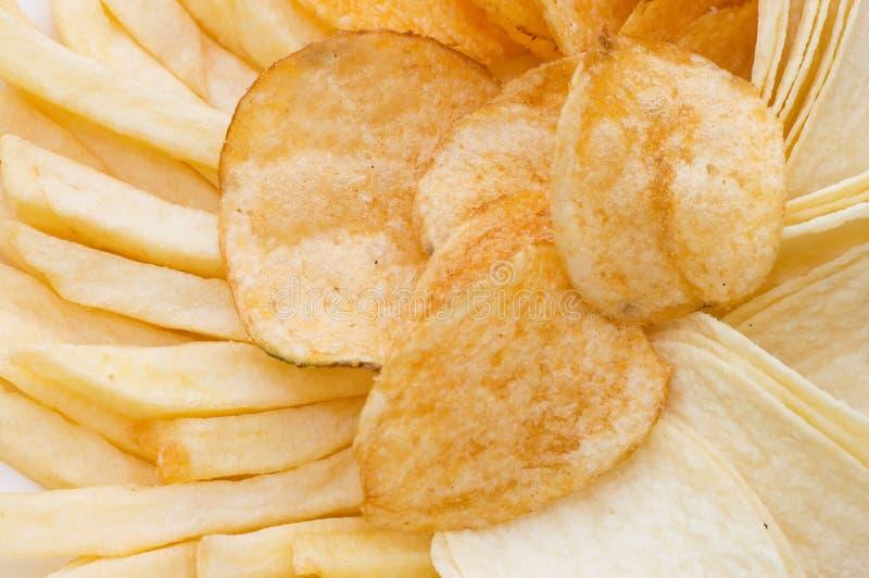 Hintergrundformularpommes-frites stockfotografie