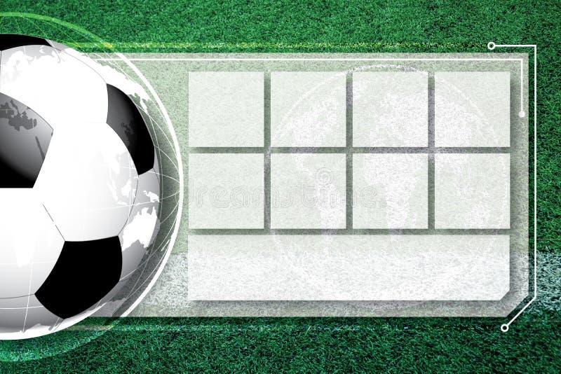 Hintergrundfußballfußball Wettbewerbszeitplan lizenzfreies stockbild
