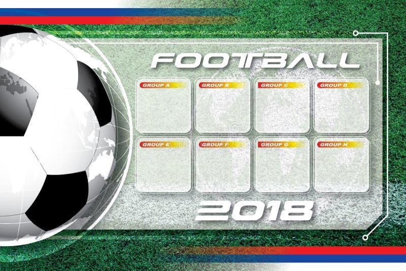 Hintergrundfußballfußball Wettbewerbszeitplan stockfoto