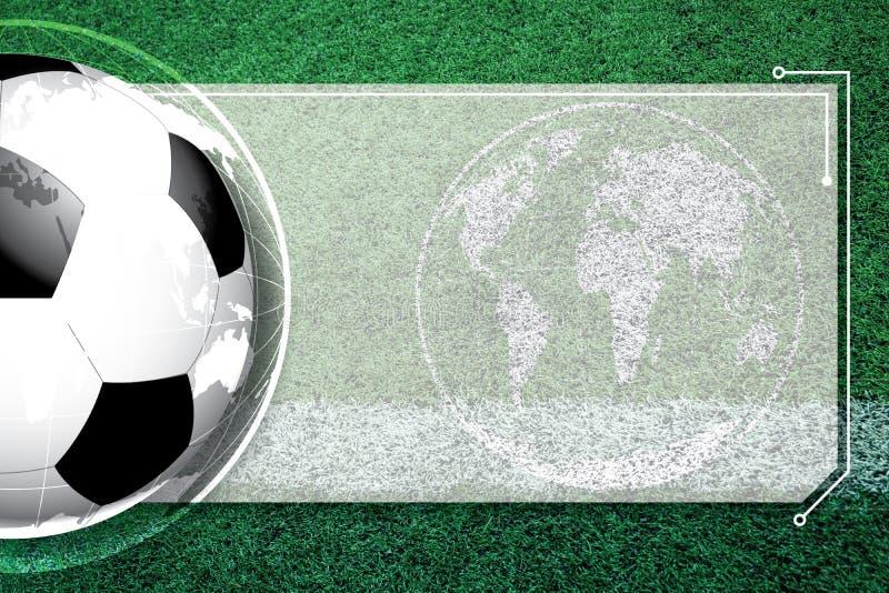 Hintergrundfußballfußball Wettbewerbszeitplan lizenzfreies stockfoto