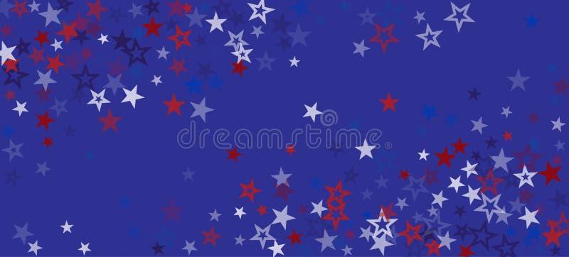 Hintergrundinformationen zu den amerikanischen Stars Vector USA Memorial Veteran 4. Juli 11. November Präsident's Labour Independ lizenzfreie abbildung