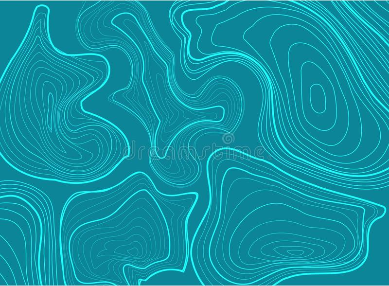 Hintergrundkonzept der topographischen Karte lizenzfreie abbildung