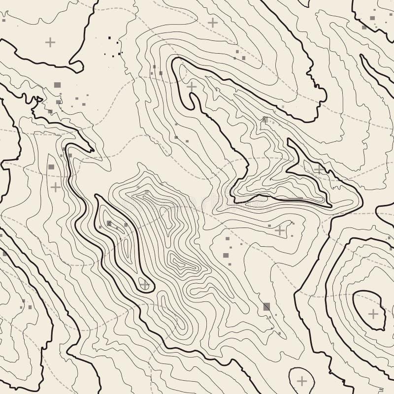 Hintergrundkonzept der topographischen Karte mit Raum für Ihre Kopie Topographielinien Kunstkontur, Bergwandernspur lizenzfreies stockfoto