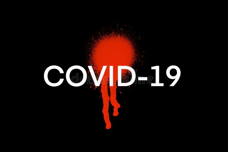 Hintergrundkonzept für COVID-19 Coronavirus-Ausbruch stockfoto