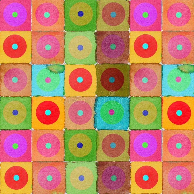 Hintergrundkreise der grafischen Auslegung lizenzfreie abbildung