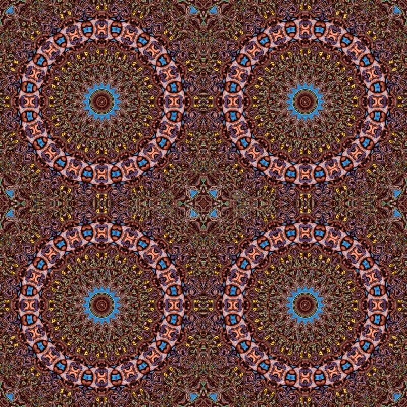 Hintergrundmehrfarbenzusammenfassungskaleidoskop bunt boho Symmetrie stock abbildung
