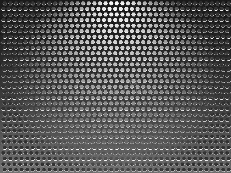 Hintergrundmetallgitter stock abbildung