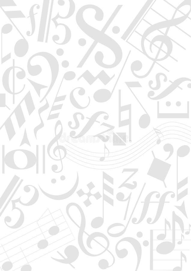 Hintergrundmusikanmerkungen vektor abbildung