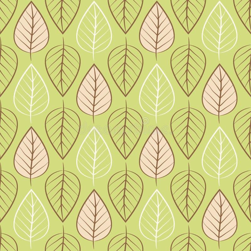 Hintergrundmuster mit Blättern lizenzfreies stockfoto