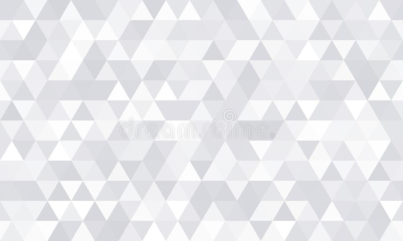 Hintergrundmuster, weiße geometrische abstrakte Polygonform Moderne graue minimale Mosaikfliese des Vektors, dreieckige Diamantli vektor abbildung