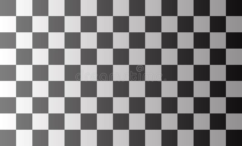 Hintergrundmuster, weiße Quadrate, die mit schwarzen modernen Technologiekonzepten und schnelle abwechseln und unkomplizierte Arb vektor abbildung