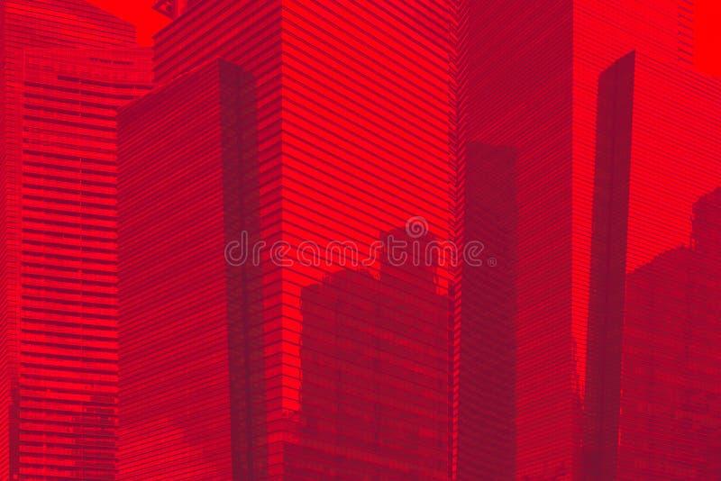 Hintergrundmuster wolkenkratzer des im Stadtzentrum gelegenen Geschäftsgebiets blaues Glas Getontes Foto stockbild