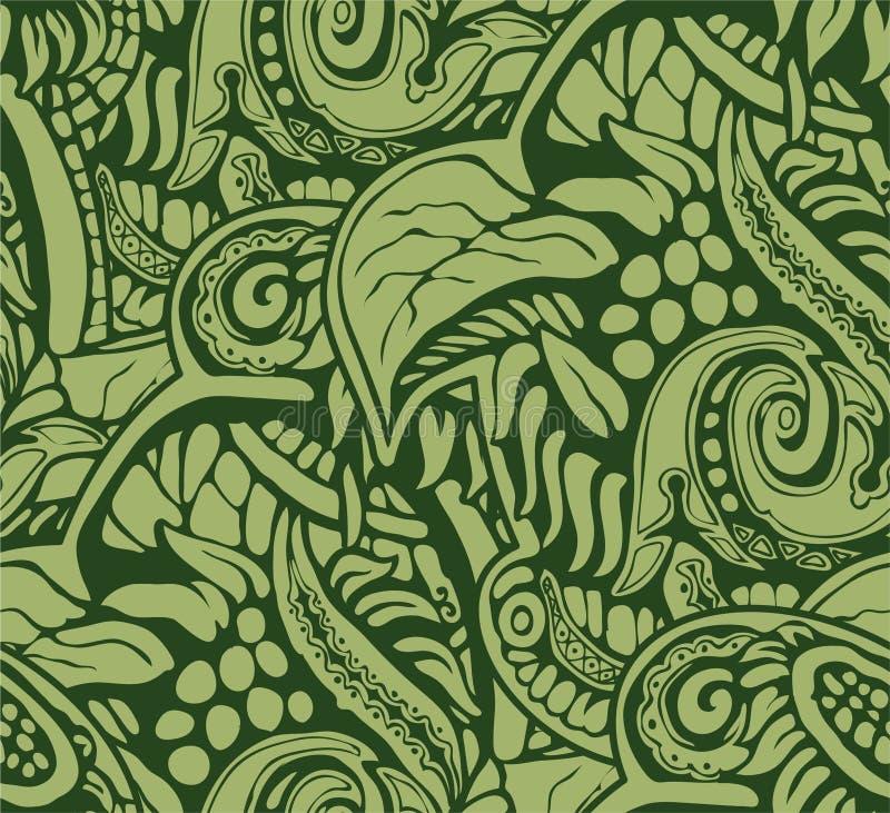 Hintergrundrahmen von den vegetativen dekorativen Elementen, die den Aufstand der Natur ausdrücken vektor abbildung