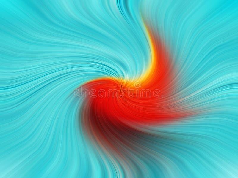 Hintergrundschablonen-Farbrotationen wirbelt Schwindelturbulenz-Farbregenbogen stock abbildung