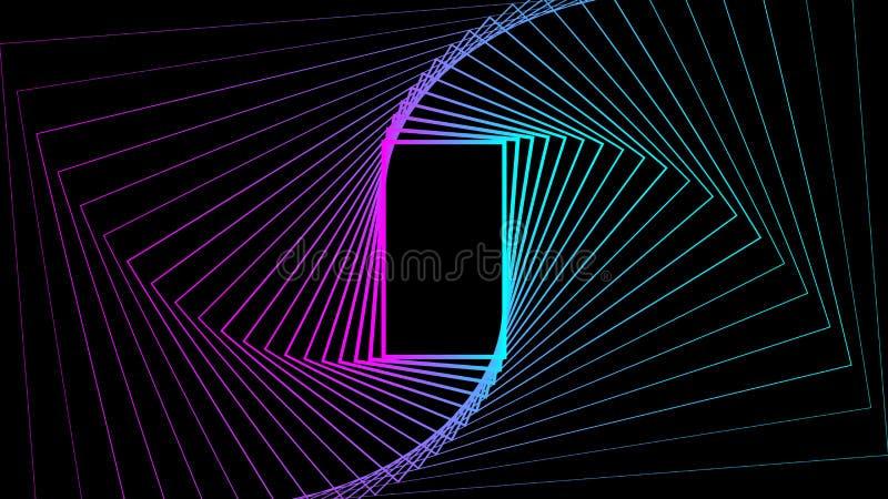 Hintergrundsteigungsfarbvektor-Entwurfsillustration der geometrischen Formrechteckzusammenfassung geheime stock abbildung