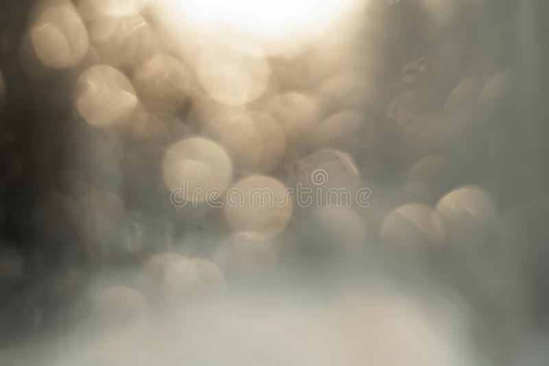 Hintergrundunsch?rfe-Beschaffenheit bokeh gelb und grau stockfotografie