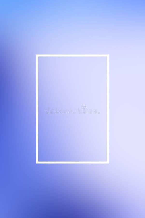 Hintergrundunschärfesteigungs-Rahmenzusammenfassung, Schablonenplakat vektor abbildung