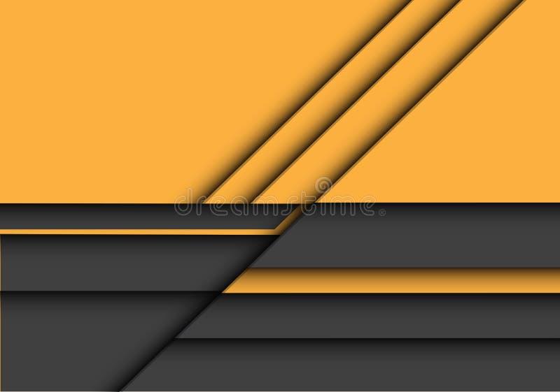 Hintergrundvektor des gelben grauen Entwurfs der Deckung 3D der Zusammenfassung moderner futuristischer vektor abbildung