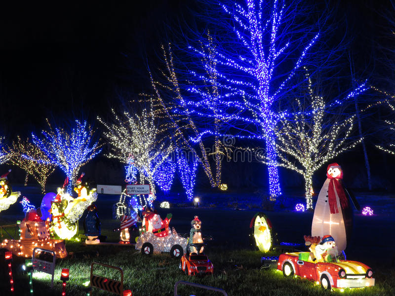 Hinterhof-Weihnachtsdekorationen stockfoto