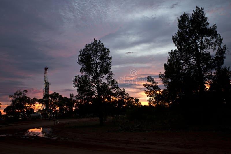 Hinterland-Sonnenaufgang lizenzfreies stockbild